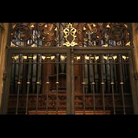 Metz, Cathédrale Saint-Étienne (Langschifforgel), Chororgel vom Chorumgang aus