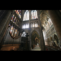 Metz, Cathédrale Saint-Étienne (Langschifforgel), Querhausorgel, Vierung und Langhaus