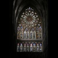 Metz, Cathédrale Saint-Étienne (Langschifforgel), Fensterrosette des Westwerks