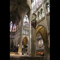 Metz, Cathédrale Saint-Étienne (Langschifforgel), Vierung mit Renaissance-Orgel