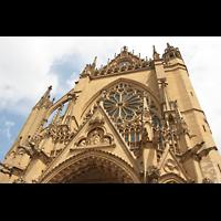 Metz, Cathédrale Saint-Étienne (Langschifforgel), Fensterrosette des Westwerks, Fassade