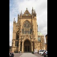 Metz, Cathédrale Saint-Étienne (Langschifforgel), Fassade