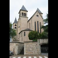 Echternach, Basilika St. Willibrord, Außenansicht zum Chor
