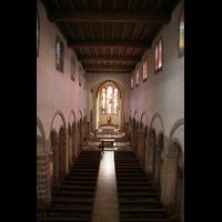 Echternach, Basilika St. Willibrord, Blick von der Orgelempore ins Hauptschiff
