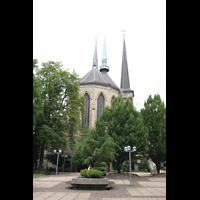 Luxemburg, Kathedrale (Symphonische Orgel), Außenansicht zum Chor