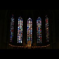 Luxemburg, Kathedrale (Symphonische Orgel), Chorfenster