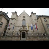 Luxemburg, Kathedrale (Symphonische Orgel), Fassade