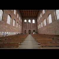 Trier, Konstantin-Basilika (Chororgel), Innenraum / Hauptschiff in Richtung Westwand