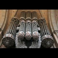 Trier, Dom St. Peter (Kryptaorgel), Große Orgel von unten
