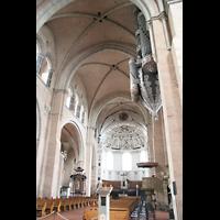 Trier, Dom St. Peter (Kryptaorgel), Innenraum / Hauptschiff in Richtung Westchor