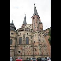 Trier, Dom St. Peter (Kryptaorgel), Chorraum von außen