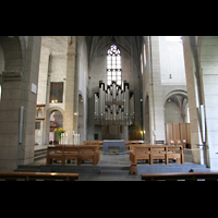 Trier, Basilika St. Matthias, Altarraum und Orgel