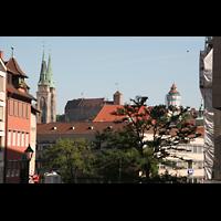 Nürnberg, St. Sebald, Blick nach St. Sebald