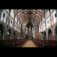 Ulm, St. Georg, Innenraum / Hauptschiff in Richtung Chor