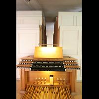 Dachau, St. Jakob, Mechanischer Spieltisch mit Orgel