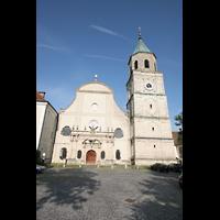 Polling, Stiftskirche St. Salvator und Heilig-Kreuz (Chororgel), Außenansicht - Fassade