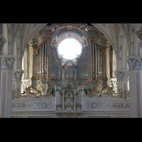 Polling, Stiftskirche St. Salvator und Heilig-Kreuz (Chororgel), Orgelempore