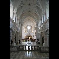 Polling, Stiftskirche St. Salvator und Heilig-Kreuz (Chororgel), Blick vom Chor zur Orgel