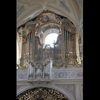 Polling, Stiftskirche St. Salvator und Heilig-Kreuz (Chororgel), Orgelprospekt