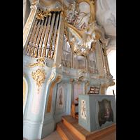 Polling, Stiftskirche St. Salvator und Heilig-Kreuz (Chororgel), Orgel und Spieltisch