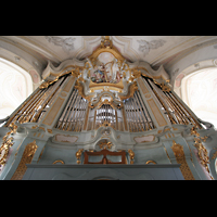Polling, Stiftskirche St. Salvator und Heilig-Kreuz (Chororgel), Orgelprospekt perspektivisch