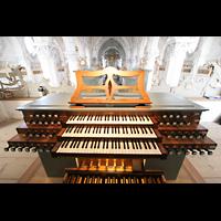Polling, Stiftskirche St. Salvator und Heilig-Kreuz (Chororgel), Spieltisch