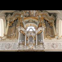 Polling, Stiftskirche St. Salvator und Heilig-Kreuz (Chororgel), Hauptorgel