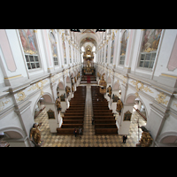 München, Alt St. Peter (Hauptorgel), Blick von der Orgelempore in die Kirche