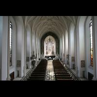 München (Haidhausen), St. Johann Baptist (kath.), Blick von der Orgelempore in die Kirche