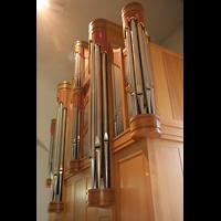 München, St. Franziskus, Seitenansicht der Orgel