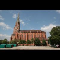 München, Mariahilf-Kirche (Hauptorgel), Seitenansicht der Kirche