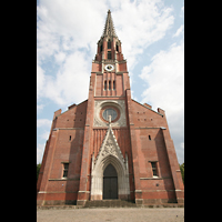 München, Mariahilf-Kirche (Hauptorgel), Turm - Fassade