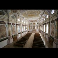 München, Bürgersaalkirche, Blick von der Orgelempore in die Kirche
