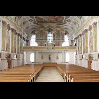 München, Bürgersaalkirche, Innenraum / Hauptschiff in Richtung Orgel