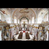 Fürstenfeldbruck, Klosterkirche (Hauptorgel), Blick von der Orgelempore in die Kirche