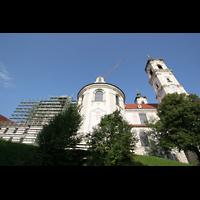 Ottobeuren, Abtei - Basilika (Heilig-Geist-Orgel), Ansicht von der Seite