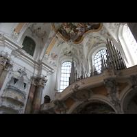 Ottobeuren, Abtei - Basilika (Heilig-Geist-Orgel), Marienorgel mit rechter Balkonorgel