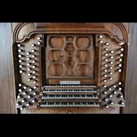 Ottobeuren, Abtei - Basilika (Heilig-Geist-Orgel), Spieltisch der Dreifaltigkeitsorgel