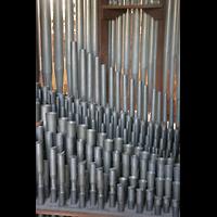 Ottobeuren, Abtei - Basilika (Heilig-Geist-Orgel), Pfeifen im Rückpositiv der Dreifaltigkeitsorgel