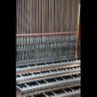 Ottobeuren, Abtei - Basilika (Heilig-Geist-Orgel), Trakturabgänge von den Manualen der Dreifaltigkeitsorgel