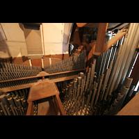 Ottobeuren, Abtei - Basilika (Heilig-Geist-Orgel), Pfeifen im Hauptwerk der Dreifaltigkeitsorgel