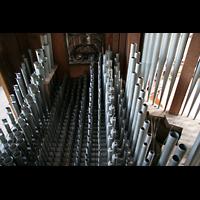 Ottobeuren, Abtei - Basilika (Heilig-Geist-Orgel), Blick ins Rückpositiv