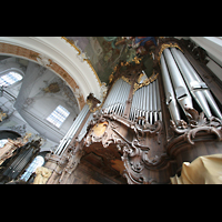 Ottobeuren, Abtei - Basilika (Heilig-Geist-Orgel), Dreifaltigkeitsorgel perspektivisch