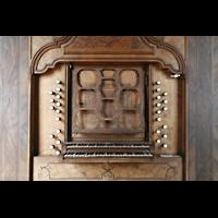 Ottobeuren, Abtei - Basilika (Heilig-Geist-Orgel), Spieltisch der Heilig-Geist-Orgel