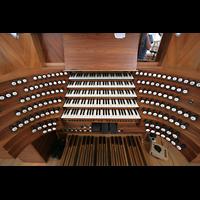 Ottobeuren, Abtei - Basilika (Heilig-Geist-Orgel), Spieltisch der Marienorgel