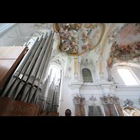 Ottobeuren, Abtei - Basilika (Heilig-Geist-Orgel), Marienorgel mit linker Balkonorgel