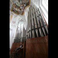 Ottobeuren, Abtei - Basilika (Heilig-Geist-Orgel), Marienorgel perspektivisch