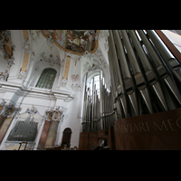 Ottobeuren, Abtei - Basilika (Heilig-Geist-Orgel), Orgelempore mit Marienorgel
