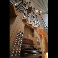 Memmingen, St. Martin, Spieltisch und Orgel