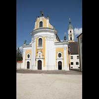 Ochsenhausen, Klosterkirche St. Georg (Hauptorgel), Fassade mit Turm
